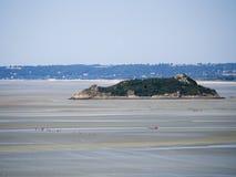 Tombelaine island, France Royalty Free Stock Images