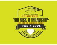 Tomber amoureux de votre meilleur ami est le plus mauvais illustration libre de droits