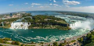 Tomber-panorama de Niagara Images stock