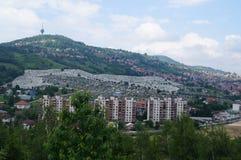 Tombes à Sarajevo Images libres de droits