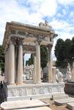 Tombes au cimetery Nice du château, France Images libres de droits