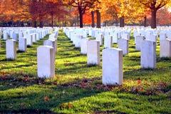 Tombes au cimetière national New Jersey de Beverly Photo libre de droits
