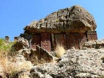 Tombes dans le monastère en Arménie Photographie stock libre de droits
