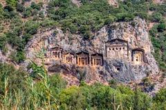 Tombes de caverne de Kaunos Photographie stock