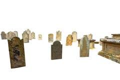 Tombes de cimetière d'isolement Photographie stock
