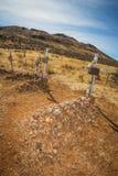 Tombes de cimetière de désert Image stock