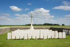 Tombes de Commonwealth de route de Serre Images libres de droits