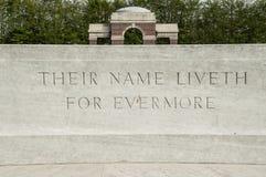 Tombes de la guerre mondiale 1 dans Ypres photo stock