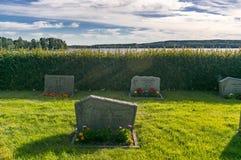 Tombes de la Suède au cimetière Photo stock