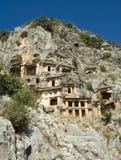 Tombes de montagne de Lycian Image libre de droits