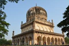 Tombes de Qutub shahi à Hyderabad Image libre de droits