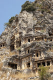 tombes de Roche-coupe en Myra, Demre, Turquie, scène 6 Photographie stock