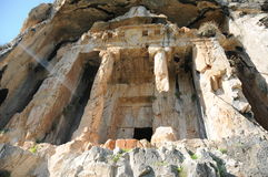 Tombes de roche de Kaunos Lycian, Dalyan, Turquie Photo stock