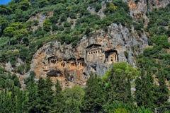 Tombes de roche de Kaunian Photographie stock