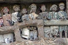 Tombes de toraja de Suaya image libre de droits
