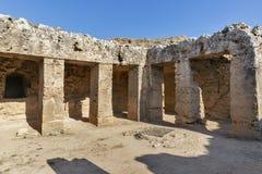 Tombes des rois dans Paphos sur la Chypre photos libres de droits
