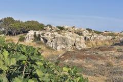 Tombes des rois dans Paphos sur la Chypre photographie stock libre de droits
