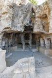 Tombes des rois dans Paphos sur la Chypre images libres de droits