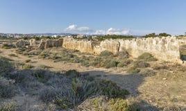 Tombes des rois dans Paphos sur la Chypre photo libre de droits