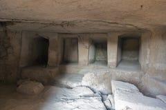 Tombes des rois dans Paphos sur la Chypre photos stock