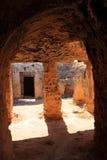 Tombes des rois, Paphos, Chypre Image libre de droits