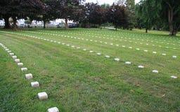 Tombes du cimetière national du soldat de Gettysburg photographie stock