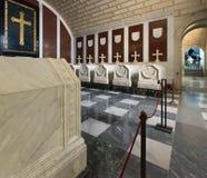 Tombes royales au sous-sol de Royal Palace Images libres de droits