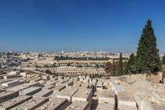 tombes sur le mont des Oliviers, Jérusalem photos stock