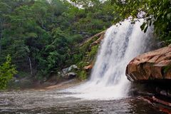 Tombo Waterfall Serra do Cabral Park στοκ φωτογραφίες με δικαίωμα ελεύθερης χρήσης