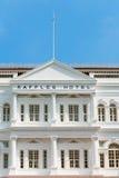 Tombolahotellet i Singapore tonade i sepia Arkivfoto