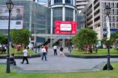 Tombolaställe; Område för central affär (CBD) Singapore Arkivfoton