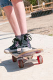 Tomboy on skateboard Royalty Free Stock Photos
