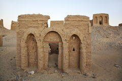 Tombs of the Al-Bagawat El-Bagawat, Egypt Royalty Free Stock Photos