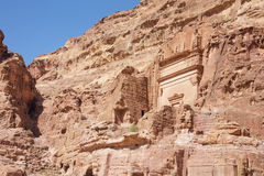 Tombs aligned against the canyon wall Stock Photography