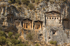 Tombs of ancient Lykia kings Stock Image