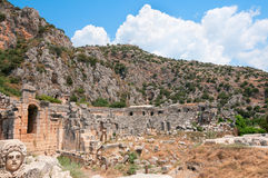 Tombs in ancient town Myra in Lycia Royalty Free Stock Images