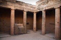 Tombs av konungarna Cypern Arkivbilder
