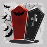 Tombs and bats Royalty Free Stock Photo