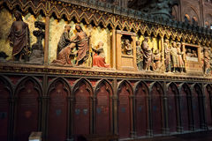The tombs in the cathedral of Notre Dame de Paris Stock Photography