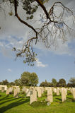 Tombs in a cemetery stock photos