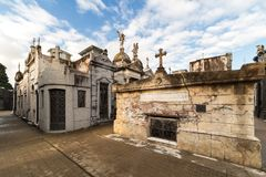 Tombs at cemetery La Recoleta Stock Images