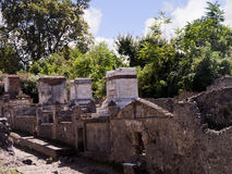 Tombs by the city Walls of Pompeii Royalty Free Stock Images