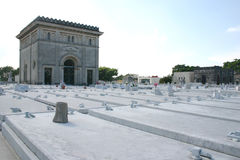 Tombs in Colon Cemetery, Havana, Cuba Royalty Free Stock Photos