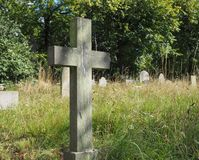 Tombs and crosses at goth cemetery Stock Photography