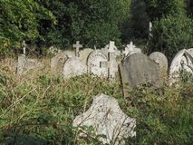 Tombs and crosses at goth cemetery Stock Photos