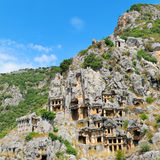Tombs in Demre (Myra), Turkey Royalty Free Stock Photos