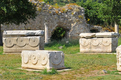 Tombs from Ephesus Stock Images