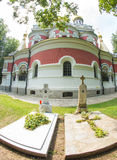 Tombs of the first abbots Shipka Monastery Stock Images