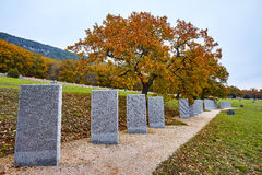 The tombs in German military graves Royalty Free Stock Photography