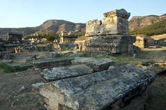 Tombs in Hierapolis Royalty Free Stock Photos